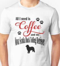 Coffee and my Nova Scotia Duck Tolling Retriever Unisex T-Shirt