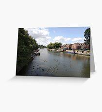 River Avon Viewed From Evesham Greeting Card