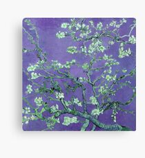 "Van Gogh's ""Almond blossoms"" with violet background Canvas Print"