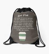But First a Venti Drawstring Bag