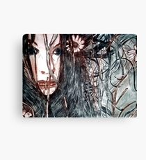 Wild Girl - Drypoint Etching Print Canvas Print
