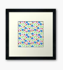 Watercolor colorful pattern with flowers Framed Print
