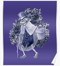 Haunted Mansion Hatbox Ghost Poster