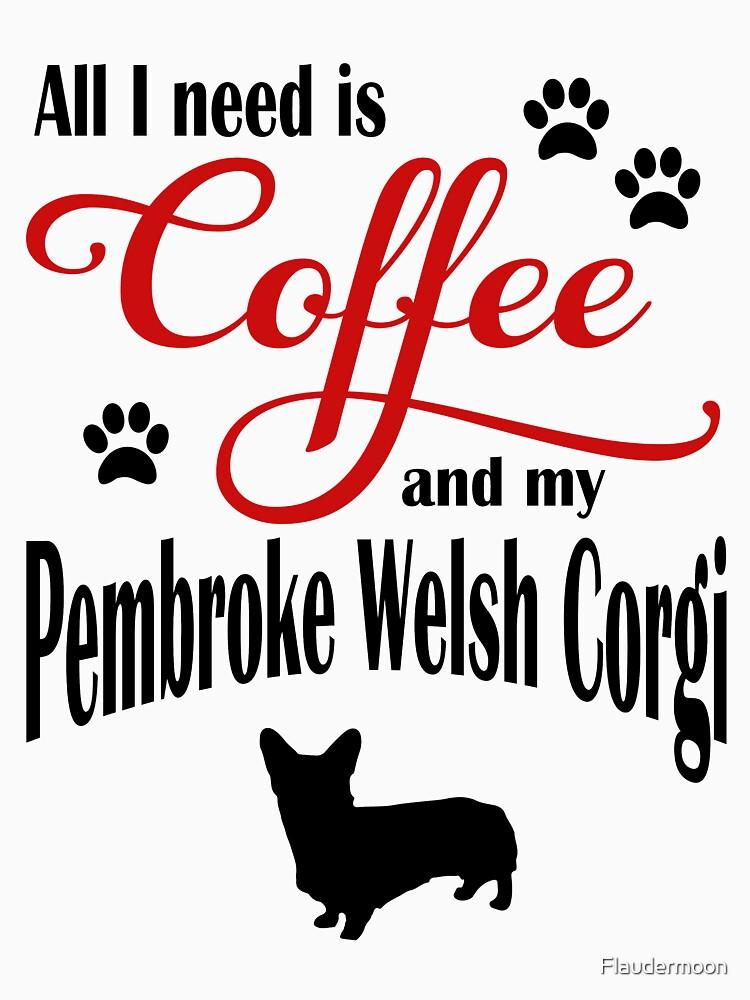 Coffee and my Pembroke Welsh Corgi by Flaudermoon