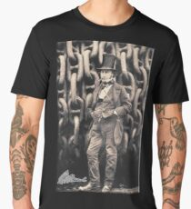 Brunel, Isambard Kingdom Brunel, Engineer, Genius, Steam Ship, Railway, Bridge, Tunnel Men's Premium T-Shirt