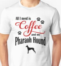 Coffee and my Pharaoh Hound Unisex T-Shirt