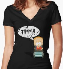 Timmy! Women's Fitted V-Neck T-Shirt