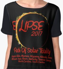 Solar Eclipse USA Path of Totality 2017 Women's Chiffon Top