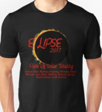 Solar Eclipse USA Path of Totality 2017 T-Shirt