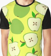 Pattern with green apples. Fruit texture. Graphic T-Shirt