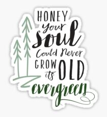 Your Soul Could Never Grow Old its Evergreen2 Sticker