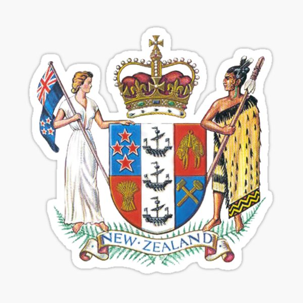 New Zealand Coat of Arms Sticker