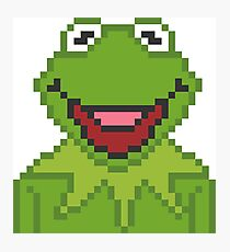 Kermit The Muppets Pixel Character Photographic Print