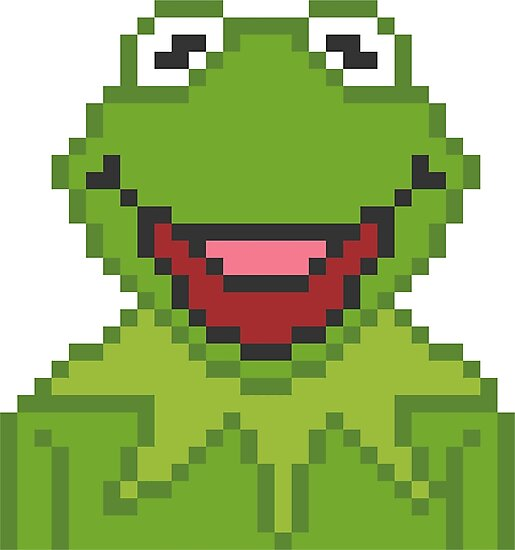 """Kermit The Muppets Pixel Character"" Photographic Print By"