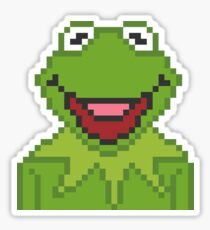 Kermit The Muppets Pixel Character Sticker