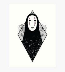 No Face - Spirited Away Hayao Miyazaki tattoo inspired design  Art Print
