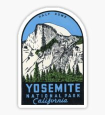Yosemite National Park California - Half Dome Vintage Decal Sticker