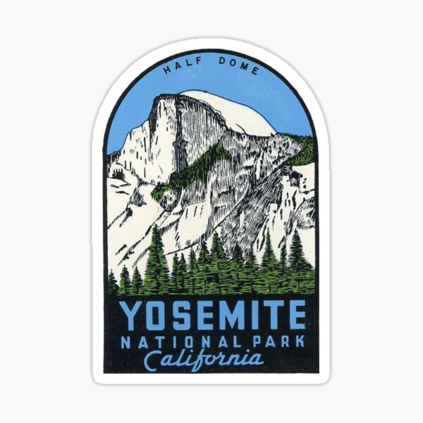 Estados Unidos - Half Dome Vintage Decal Pegatina