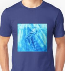 Down- Bright Blue T-Shirt