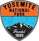 YOSEMITE NATIONAL PARK CALIFORNIA MOUNTAIN HIKING CAMPING CLIMBING CAMPER by MyHandmadeSigns