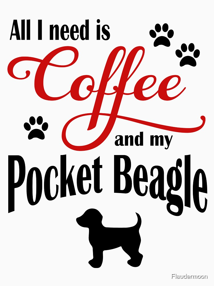 Coffee and my Pocket Beagle by Flaudermoon