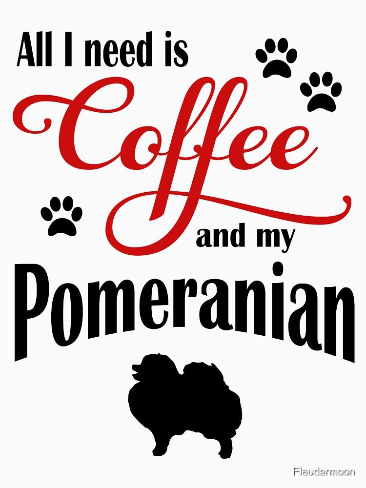 Coffee and my Pomeranian by Flaudermoon