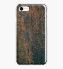 Dark vintage wood texture iPhone Case/Skin