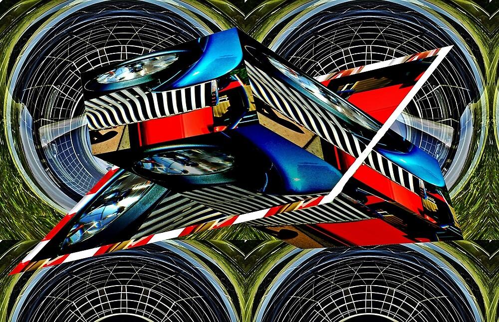 Car grille as art by Karl Rose