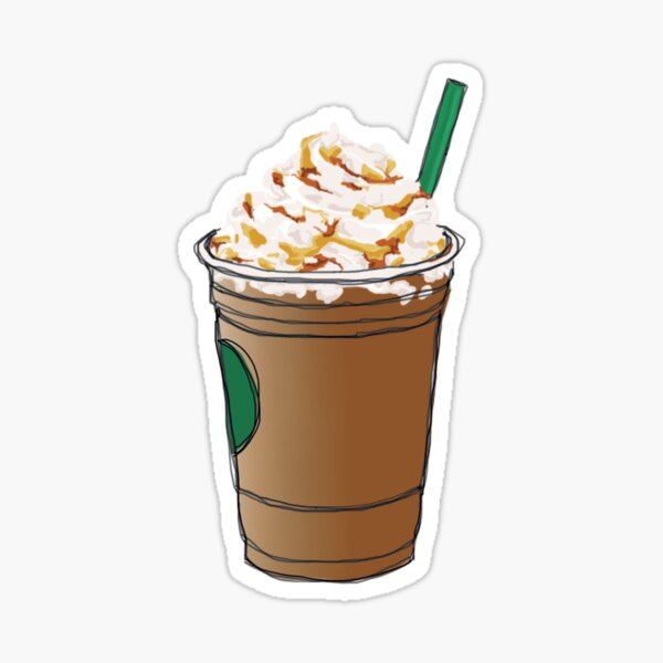 Caramel Frappe Stickers Redbubble