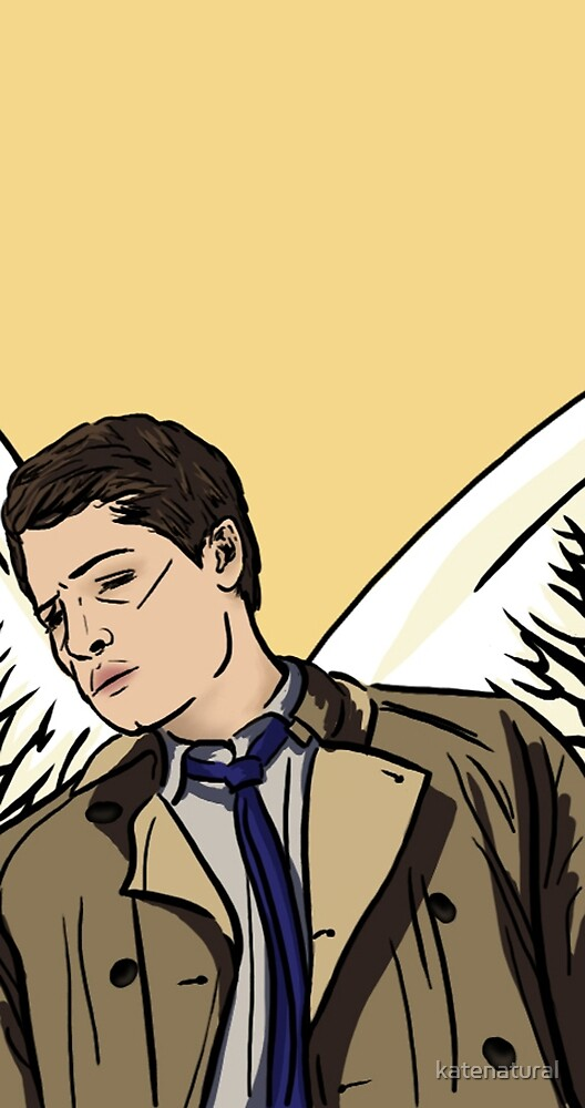 Castiel Yellow Wing Design by katenatural