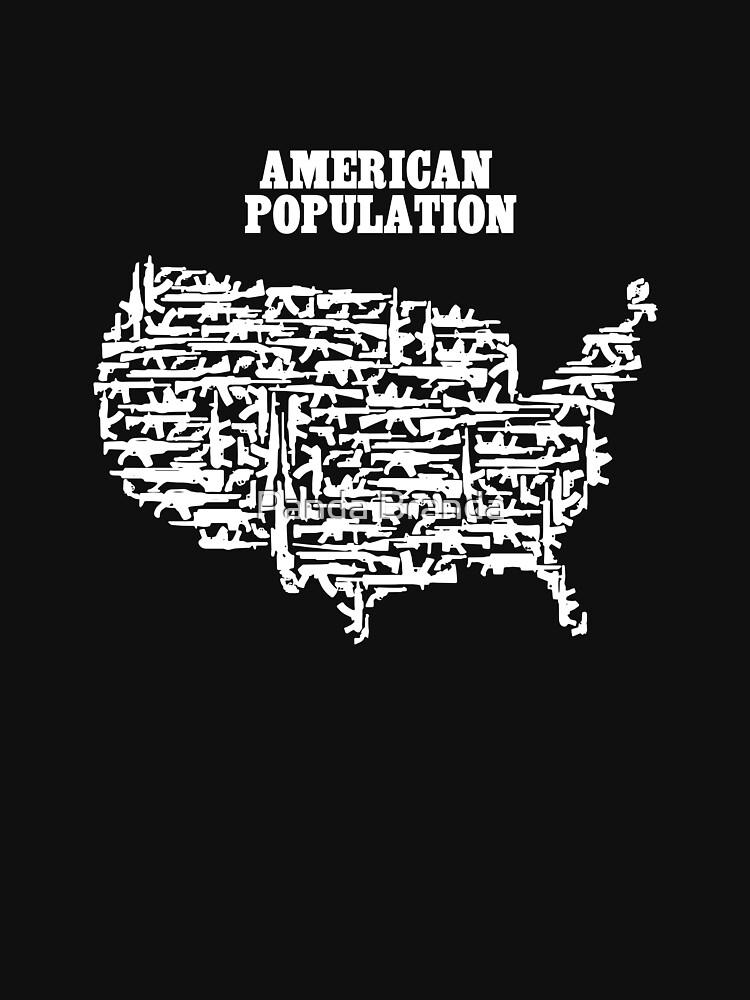 American Population Guns Art Design by CrusaderStore