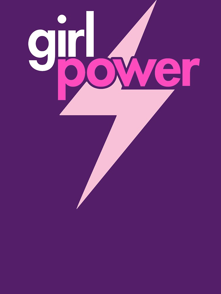 Girl Power with Pink Lightning Bolt by BootsBoots