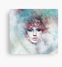 Face Girl Painting art Canvas Print