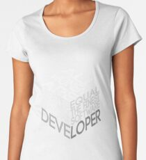 All Women Are Created Equal Art Design For Software Developers Women's Premium T-Shirt