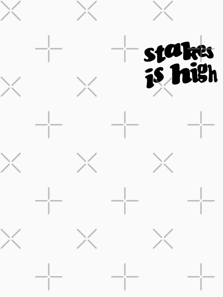 Stakes is High - De La Soul replica tour shirt black by TheJBeez