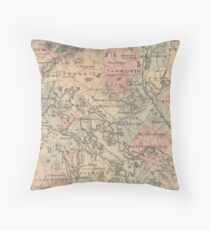 The Lake Country of New Hampshire - 1870-1890 Throw Pillow