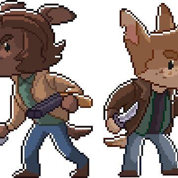Supernatural Sam & Dean Winchester inspired Pixel Dog Furry by lutnik