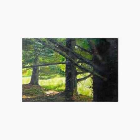 row of pines Art Board Print
