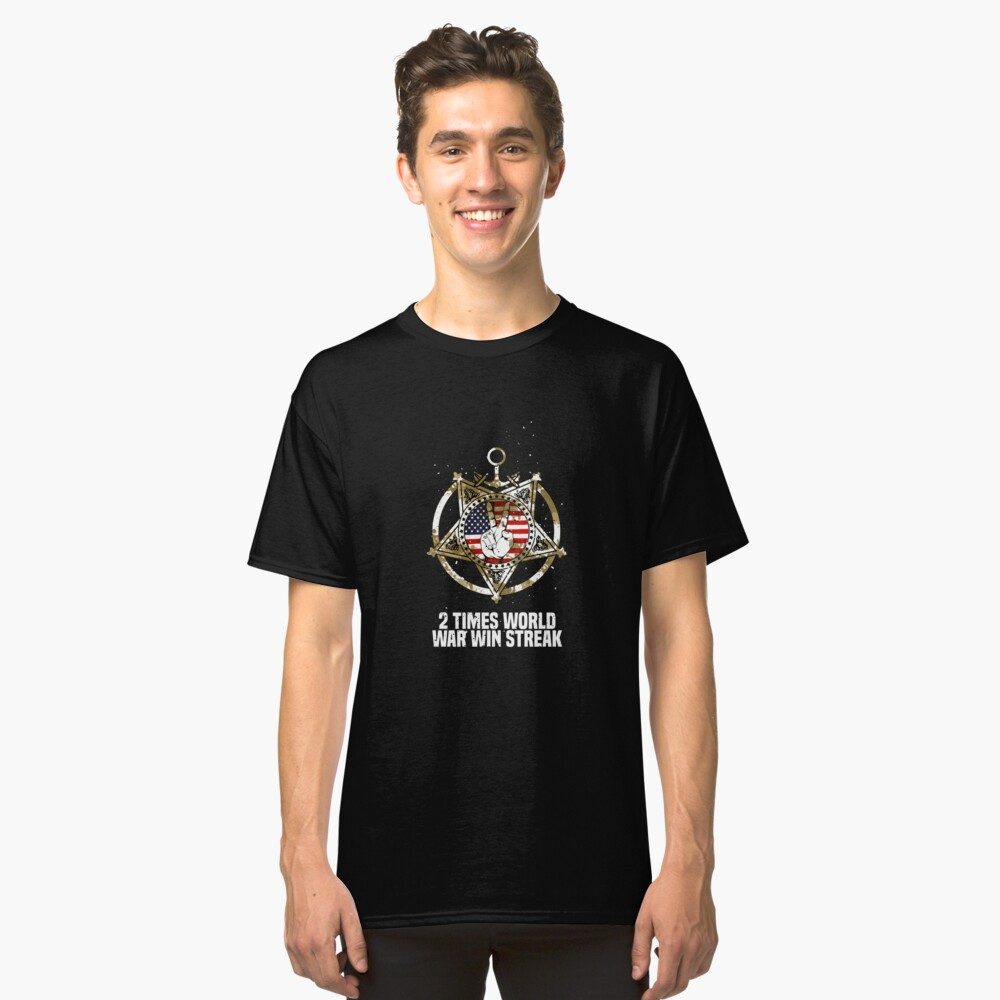 World War Win Streak Art Design Classic T-Shirt Front