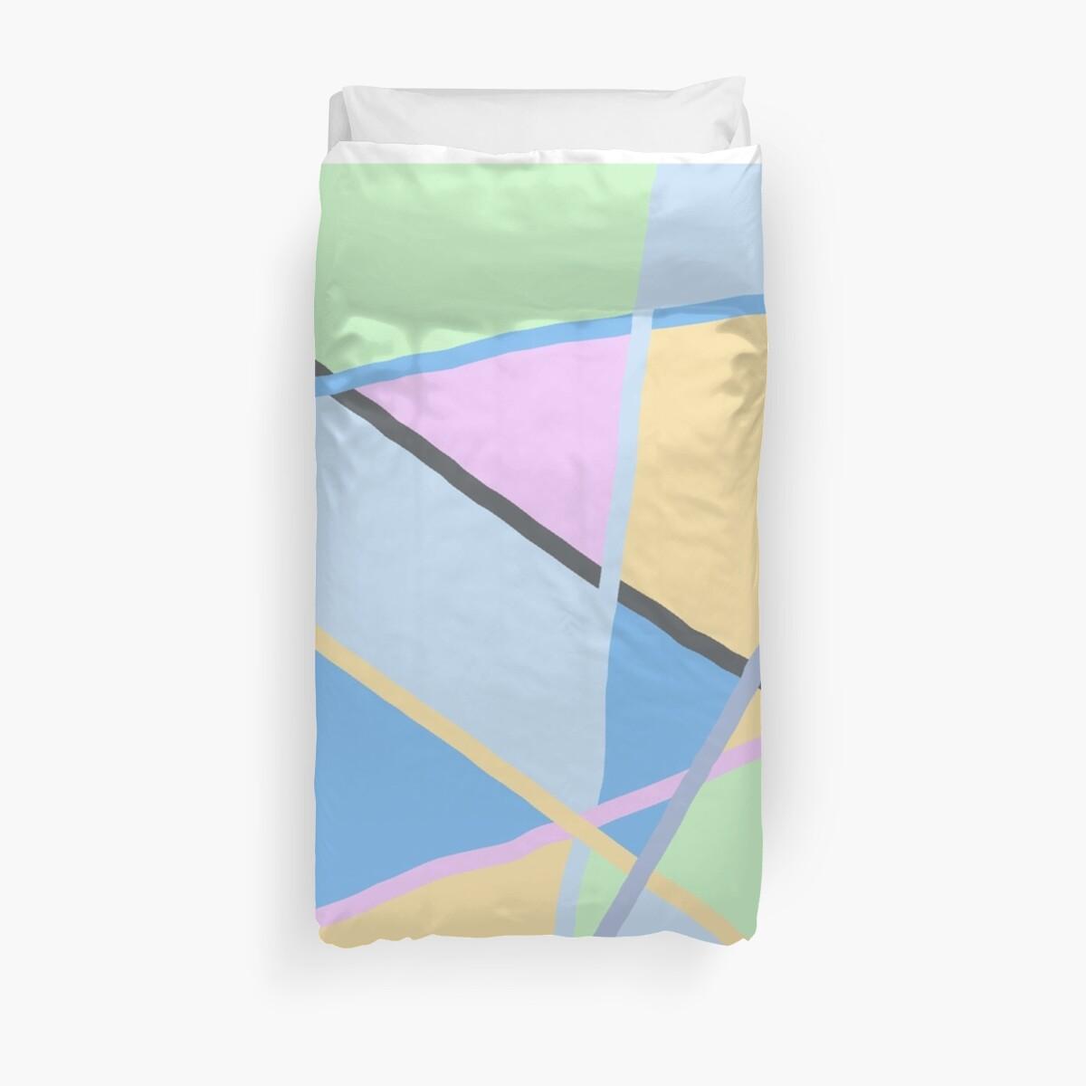 Quot Soft Colors Yellow Pink Blue Green Grey Quot Duvet