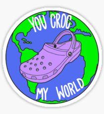 You Croc My World: Purple Sticker