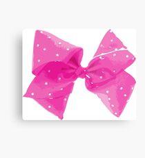 Pink Pink Bow Metal Print