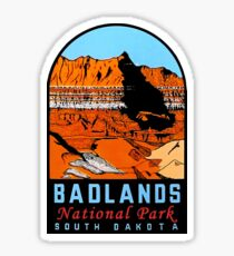 Badlands National Park Vintage Travel Decal South Dakota Sticker