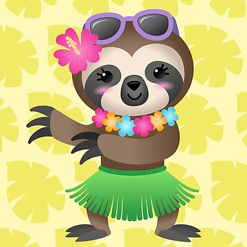 Hula Sloth  by taylorsmith03
