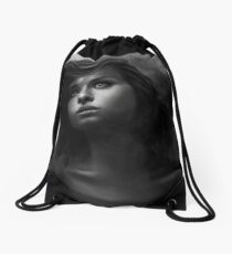 Beautiful little girl art Drawstring Bag