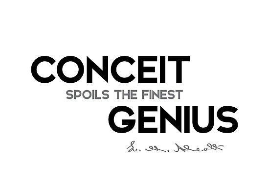 conceit genius - louisa may alcott by razvandrc