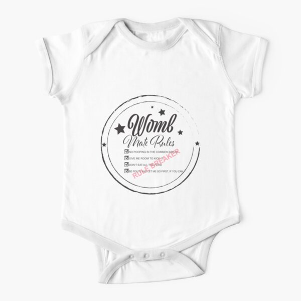 Womb Mate Rules Short Sleeve Baby One-Piece