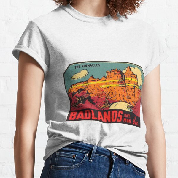 Badlands National Park -The Pinnacles- Vintage Travel Decal Classic T-Shirt