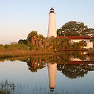 Lighthouse Reflection by Marguerite Foxon