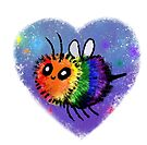 Rainbow Bee by spiffy-keen